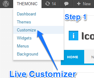 live customizer-step1