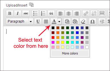 change heading color wordpress